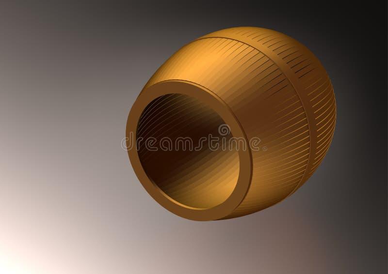 Een gouden vat op een zwarte vector illustratie