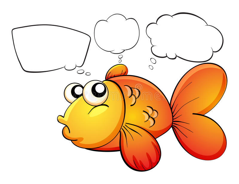 Een gouden vis en lege callouts vector illustratie