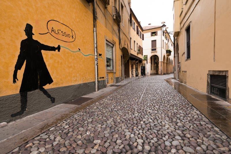 Een graffiti in Padua royalty-vrije stock afbeeldingen