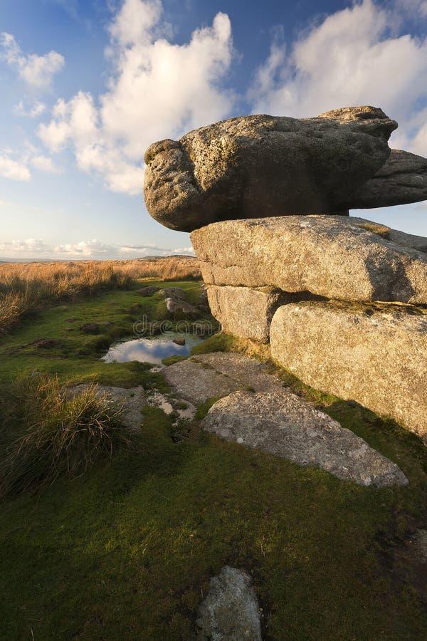 Een Graniet Tor On Dartmoor royalty-vrije stock foto