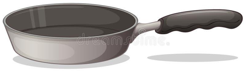 Een grijze kokende pan vector illustratie