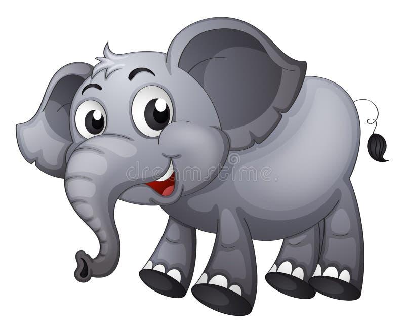 Een grijze olifant stock illustratie