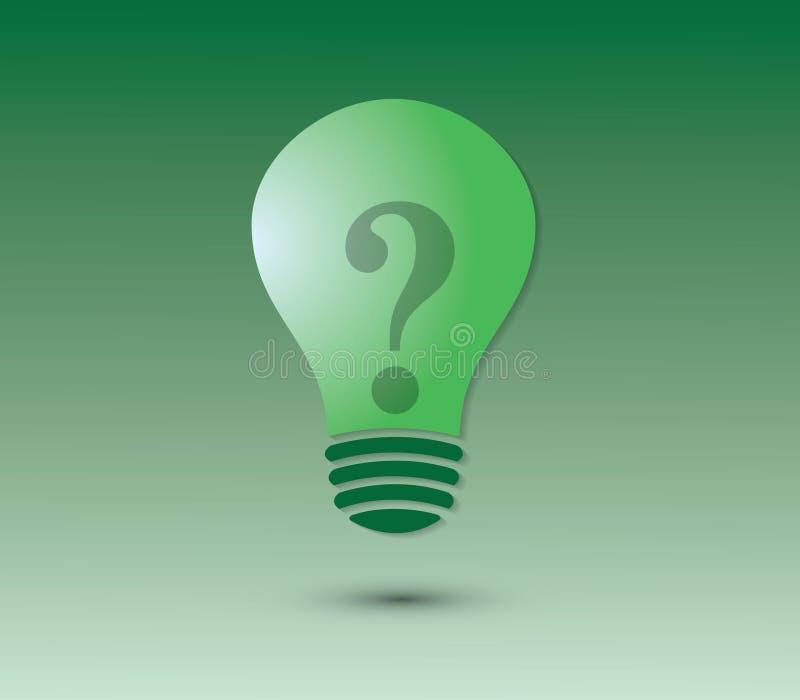 Een groen bolpictogram met vraagteken voor vraag vector illustratie