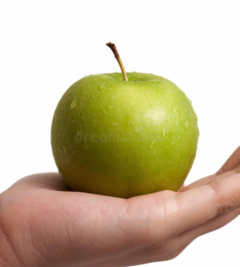 Een groene appel stock afbeeldingen