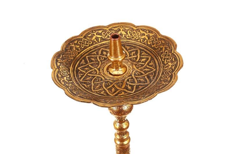 Een groene en gouden Arabische shisha royalty-vrije stock afbeeldingen