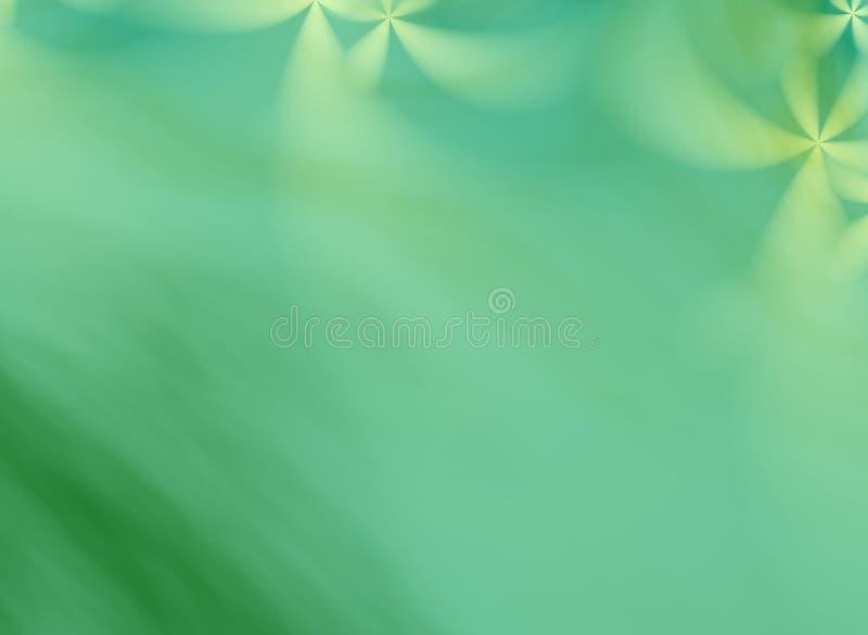 Een groene fractal achtergrond met bloemenornamenten vector illustratie
