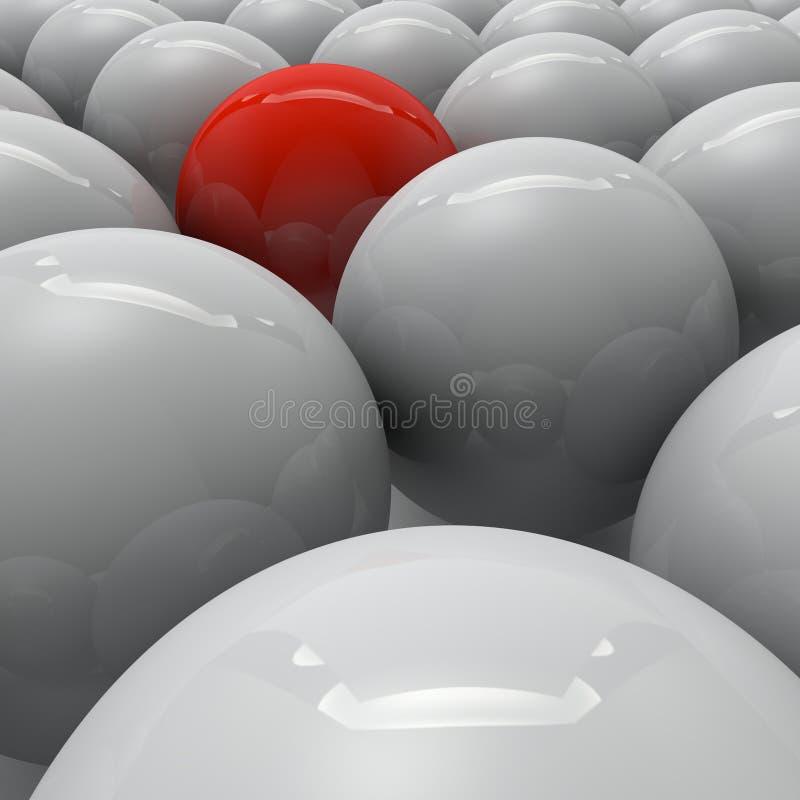 Een groep ballen stock illustratie