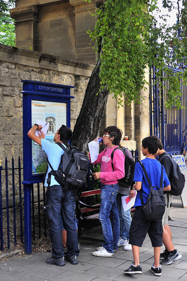 De studenten van Oxford stock fotografie