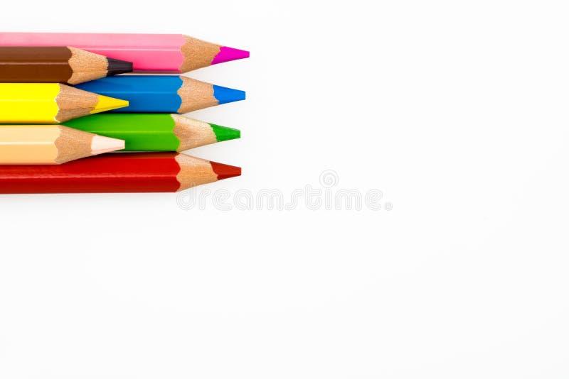 Een groep kleurpotloden stock foto