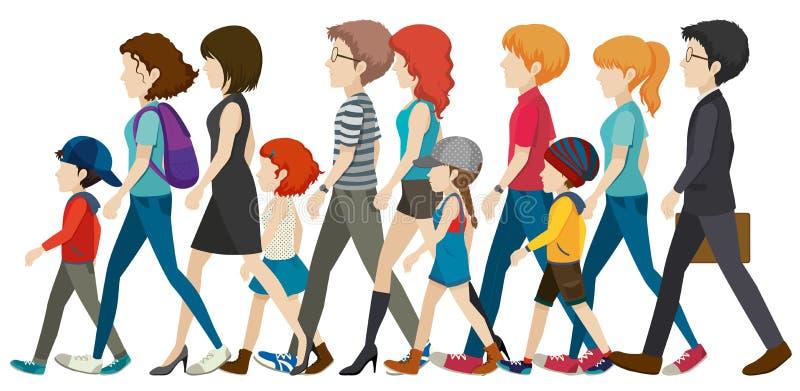 Een groep mensen zonder gezichten stock illustratie