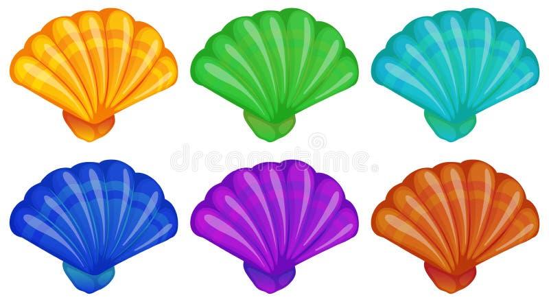 Een groep shells stock illustratie