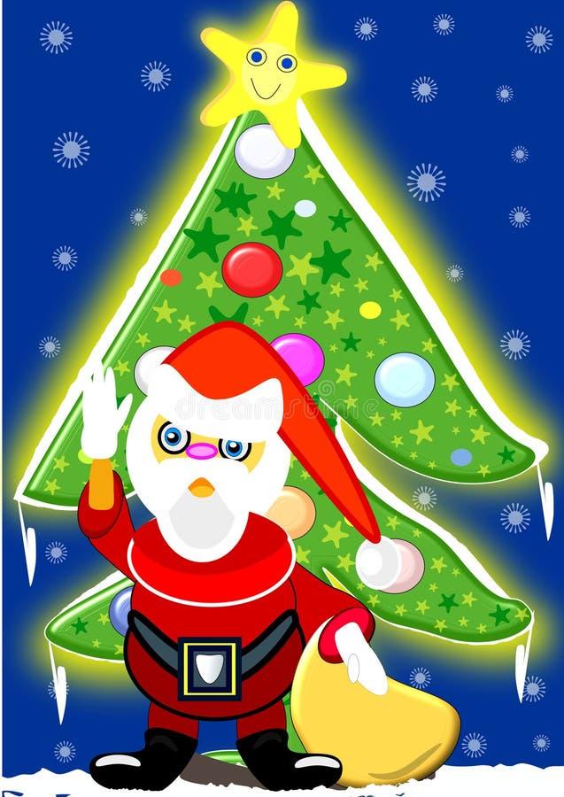 Een groet wordt altijd gewaardeerd en als het uit Santa Claus dan beter beter komt vector illustratie