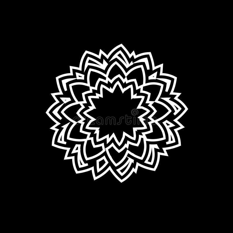 Een groot embleem voor het bedrijf Rozet vectorembleem Diamanten vectorembleem Juwelenembleem stock illustratie