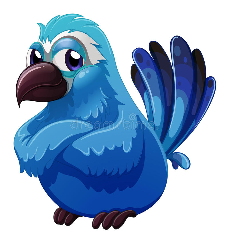 Een grote blauwe vogel stock illustratie