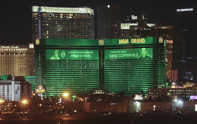 Een grote Mening MGM van Internationale Luchthaven McCarran stock fotografie