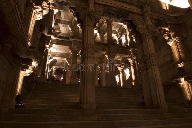 Een grote mening van Adalaj-stap goed Ahmedabad, Gujarat royalty-vrije stock afbeelding