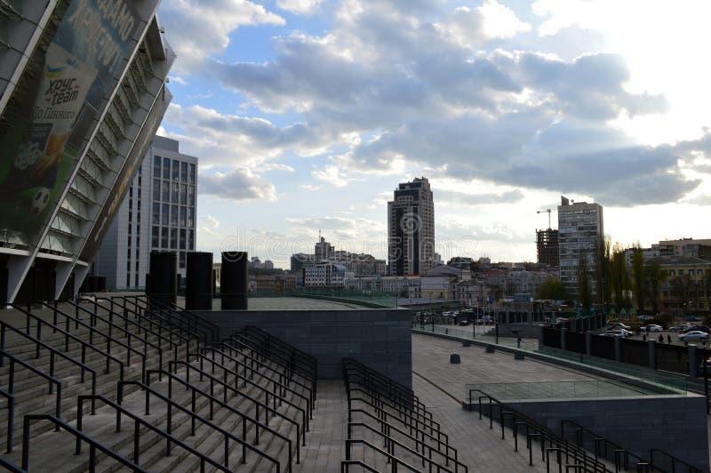 Een grote mierenhoop zonder mieren stadion stock afbeeldingen