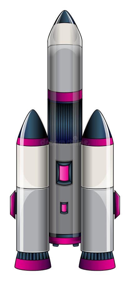 Een grote raket stock illustratie