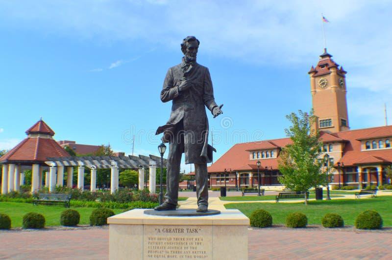 Een 'Grotere Taak' Lincoln Statue royalty-vrije stock fotografie