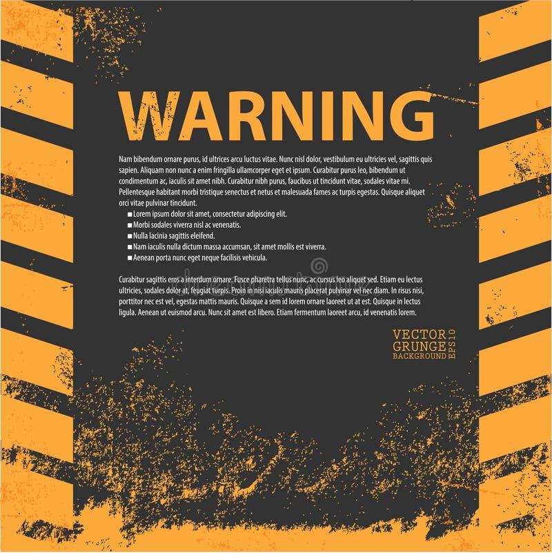 Een grungy en versleten textuur van gevaarstrepen vector illustratie