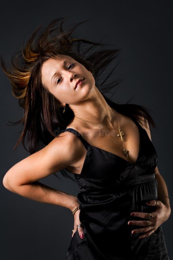 Een haar flick stock fotografie