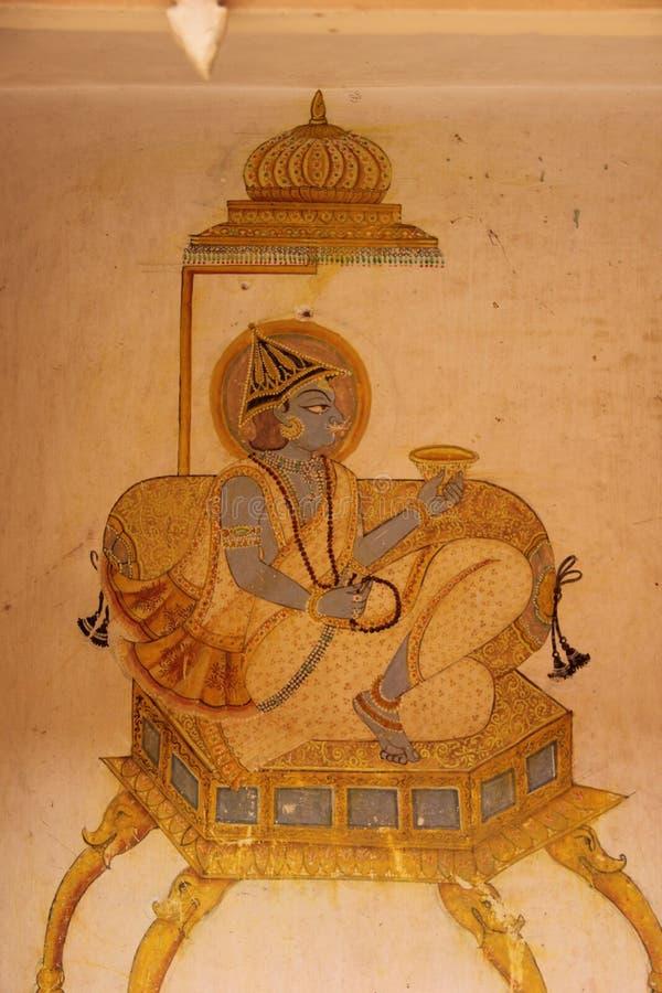 Een Hand geschilderde Fresko in Jodhpur royalty-vrije stock foto's