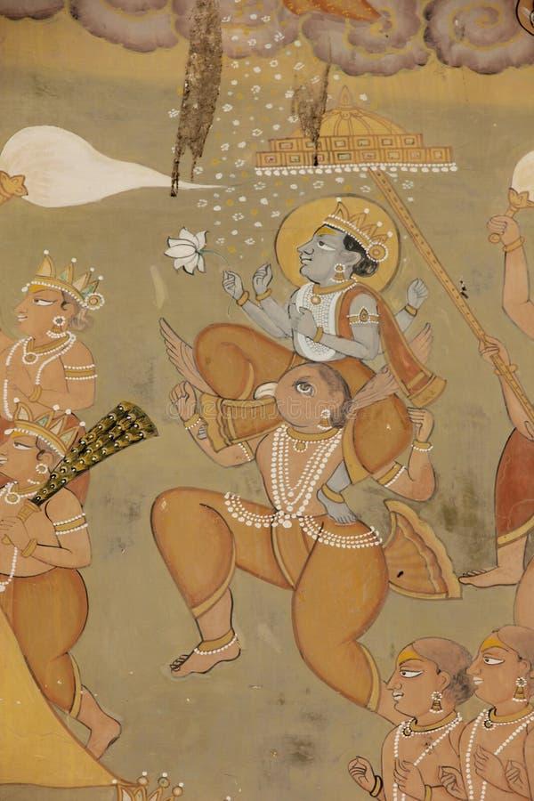 Een Hand geschilderde Fresko in Jodhpur royalty-vrije stock foto