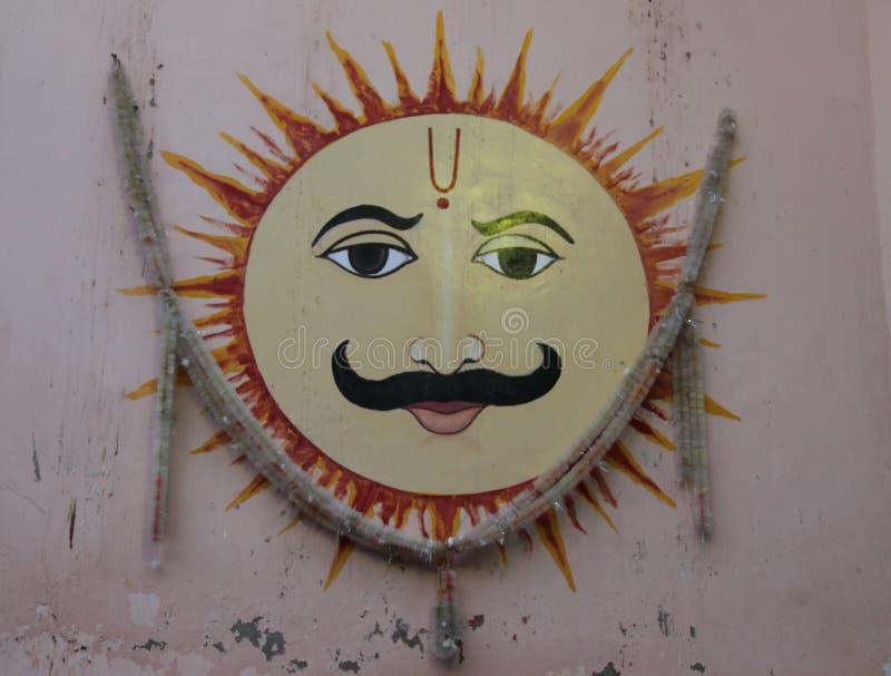 Een Hand geschilderde Fresko in Jodhpur royalty-vrije stock fotografie
