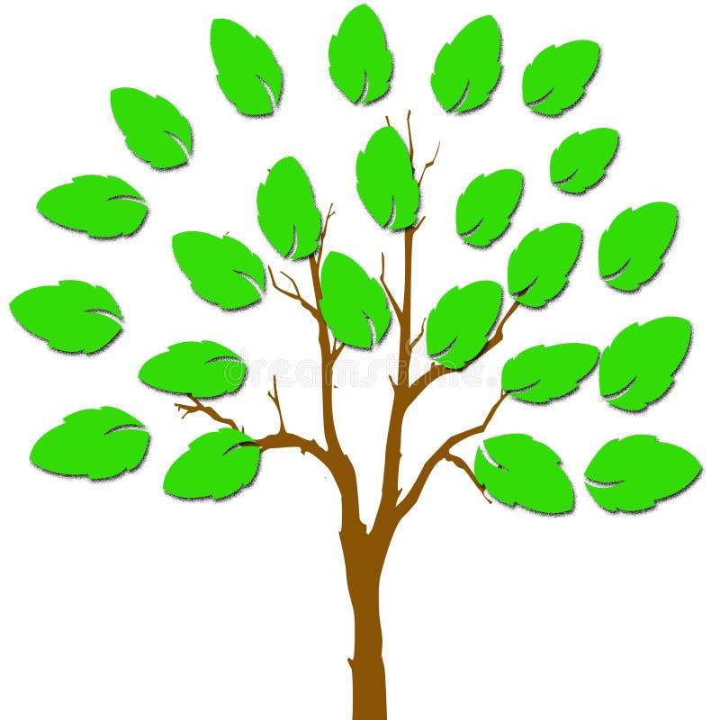 Een hand met bladeren stock illustratie