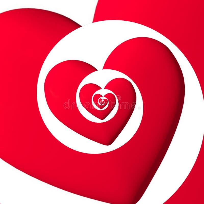 Een hart dat liefde in oneindigheid meesleept royalty-vrije stock afbeeldingen