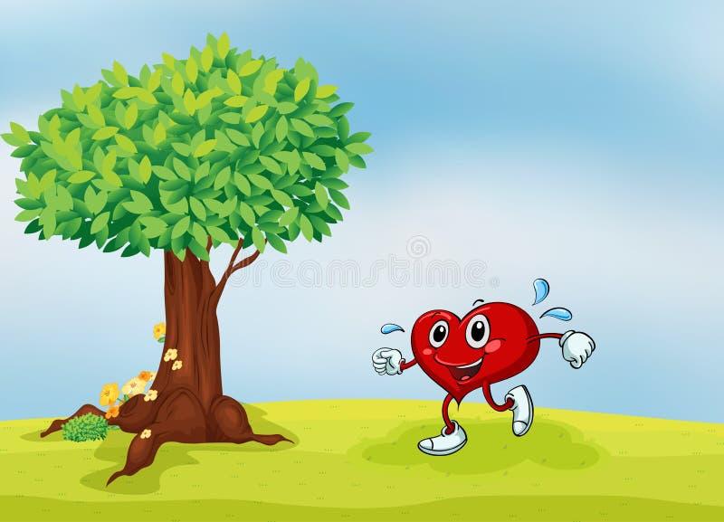 Een hart en een boom royalty-vrije illustratie