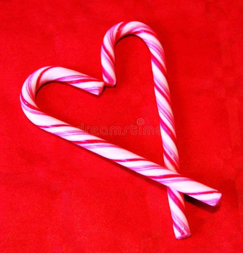 Een hart van polka candys stock afbeeldingen