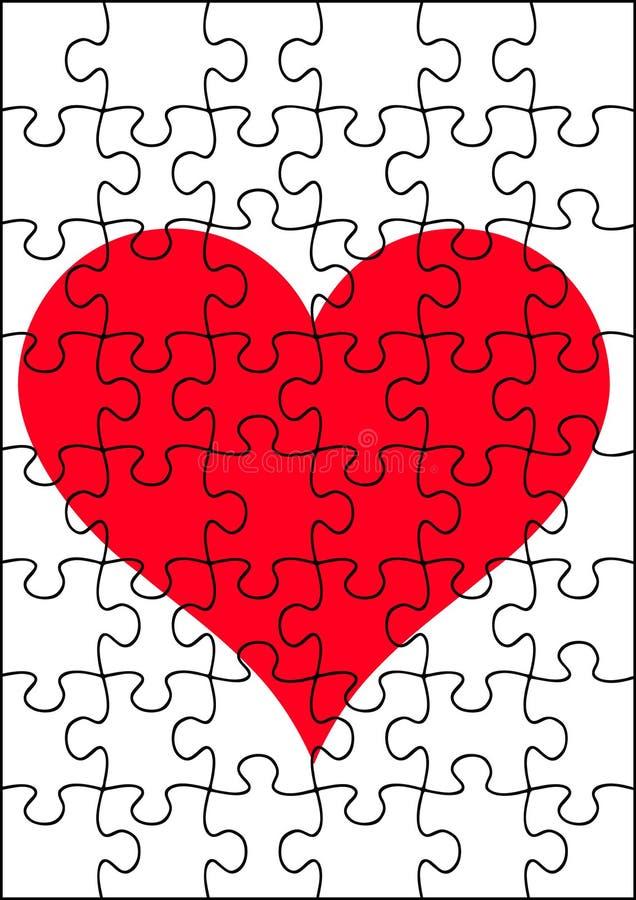 Een hartfiguurzaag stock illustratie