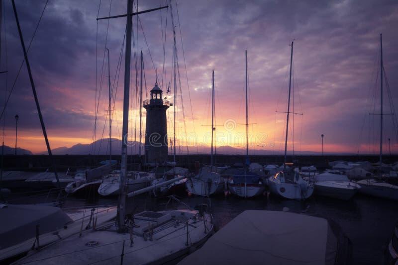 In een haven royalty-vrije stock foto