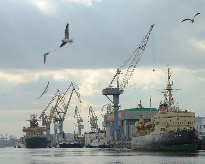 Een havenfaciliteit in Heilige Petersburg, Rusland royalty-vrije stock foto