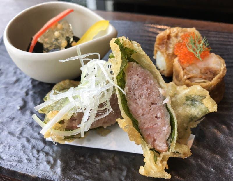 Een heerlijk authentiek Japans voedsel royalty-vrije stock fotografie