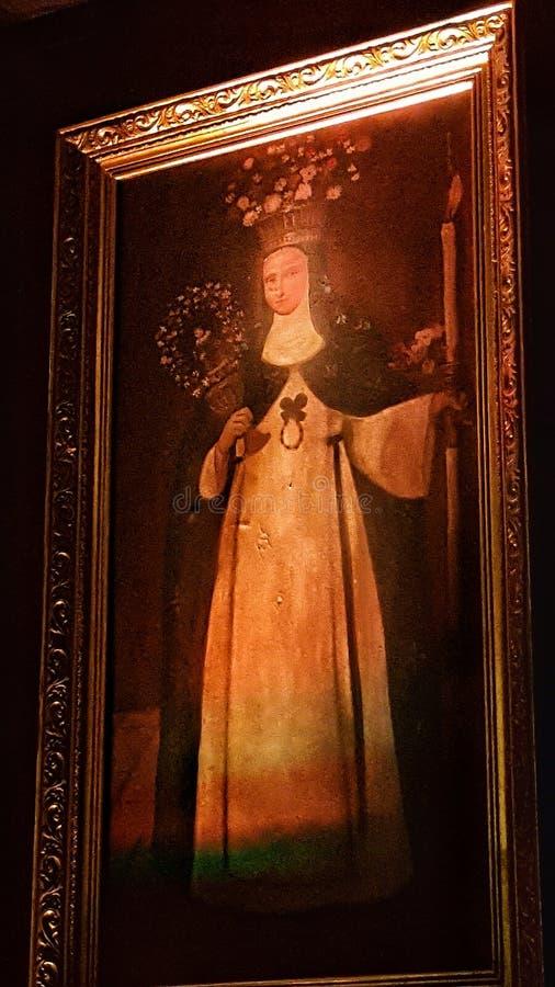 een heilige met laserlicht royalty-vrije stock afbeelding