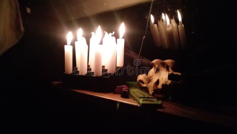 Een heksennacht royalty-vrije stock afbeeldingen