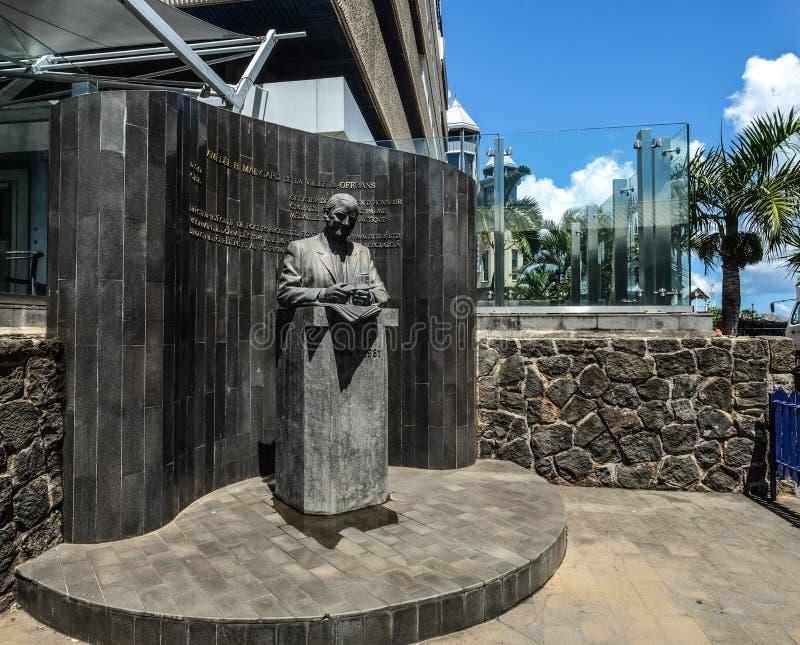 Een heldenmonument in Port Louis, Mauritius stock foto's