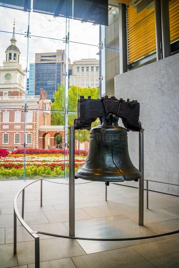 Een herdenkingsklok van het putdomein in Pennsylvania, Philadelphia royalty-vrije stock afbeelding