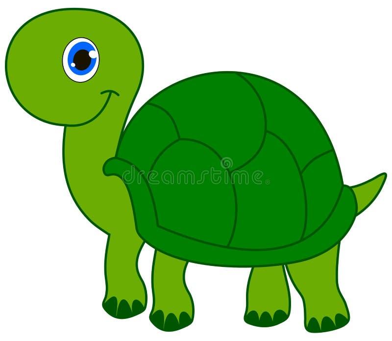 Een het glimlachen groene schildpad vector illustratie