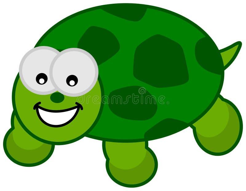 Een het glimlachen groene schildpad royalty-vrije illustratie