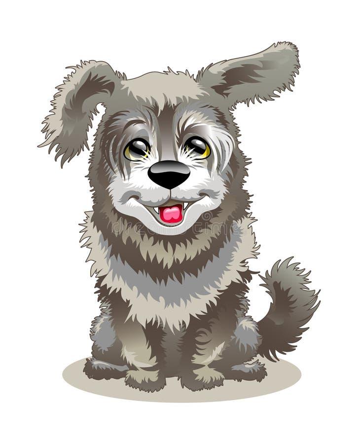 Een het glimlachen hond is uw ruwharige vriend stock illustratie