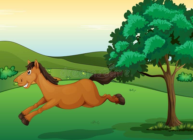 Een het glimlachen paard vector illustratie