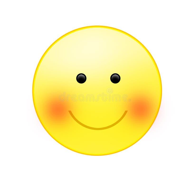 Een het glimlachen zon vector illustratie