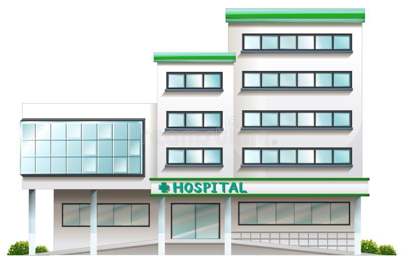 Een het ziekenhuisgebouw royalty-vrije illustratie