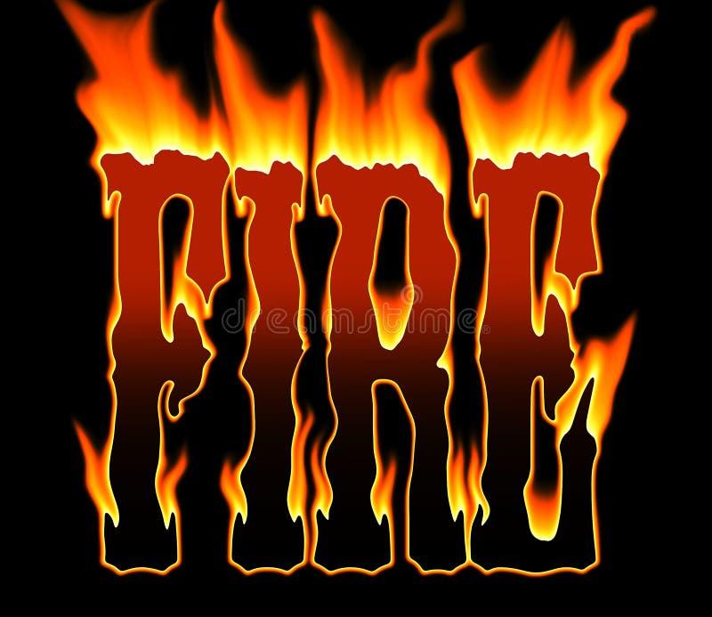 In een hete brand royalty-vrije illustratie