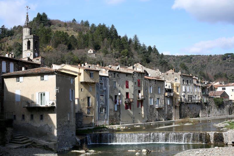 Een historisch dorp in Cévennes in Zuid-Frankrijk royalty-vrije stock afbeeldingen