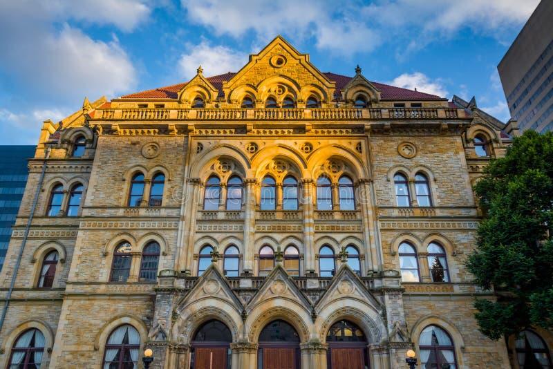 Een historisch gebouw in Columbus van de binnenstad, Ohio stock afbeelding