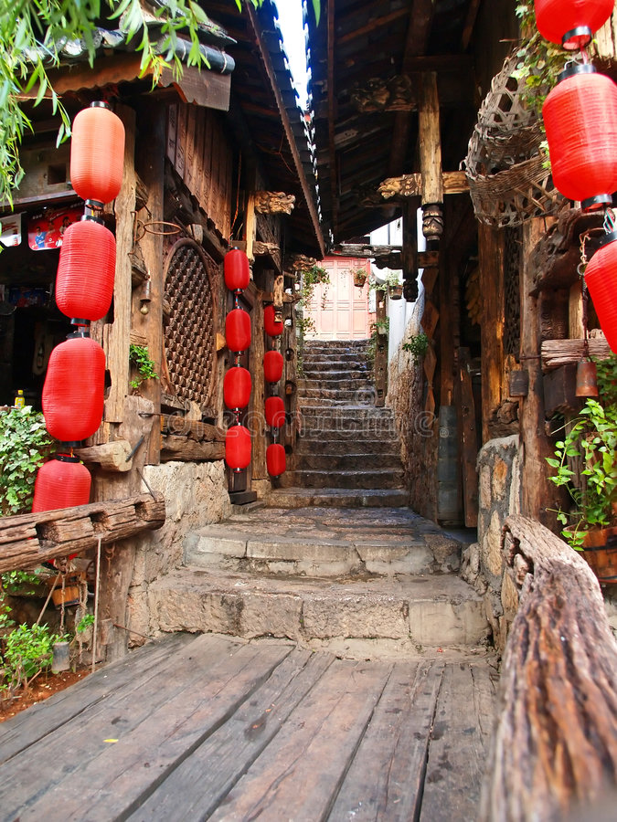 Een historische stad - Lijiang royalty-vrije stock afbeeldingen